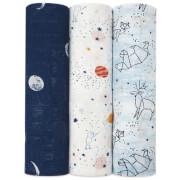 aden + anais Silky Soft Swaddles - Stargaze (3 Pack)