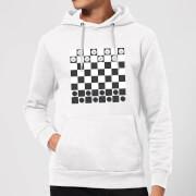 Playing Checkers Board Hoodie - White - XXL - White