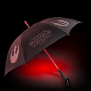 Parapluie sable laser Star Wars Officiel avec interrupteur - Côté obscure (rouge) - Zavvi Exclusif