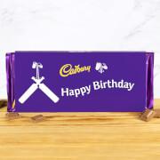 Cadbury Bar 360g   Cricket Bat   Happy Birthday