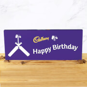 Cadbury Bar 850g   Cricket Bat   Happy Birthday