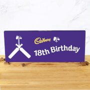 Cadbury Bar 850g   Cricket Bat   18th Birthday