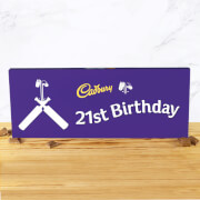 Cadbury Bar 850g   Cricket Bat   21st Birthday