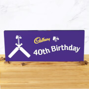 Cadbury Bar 850g   Cricket Bat   40th Birthday
