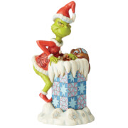 The Grinch By Jim Shore Grinch Climbing into Chimney Figurine