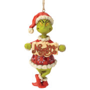 Le Grinch tenant un panneau Naughty/Nice (Décoration de Noël), Le Grinch par Jim Shore – Dr Seuss