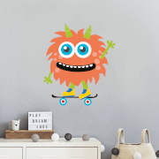 Monster On Skateboard Wall Art Sticker