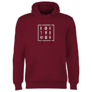 How Ridiculous Forty Four Square Hoodie - Burgundy