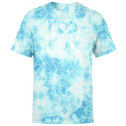 How Ridiculous Forty Four Square T-shirt - Turquoise Tie dye