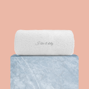 I Like It Dirty Embroidered Hand Towel