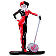 DC Collectibles Harley Quinn Red White And Black Statue By Adam Hughes