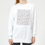 Bicycle Pattern Womens Sweatshirt   White   XS   White