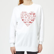 You & Me Womens Sweatshirt - White - M - White