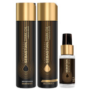 Sebastian Professional Dark Oil Frizz Taming Bundle (Worth £55.40)