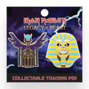 Iron Maiden Legacy of the Beast Lapel Pin - Pharaoh Eddie and The Goddess Aset