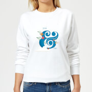 You & Me Womens Sweatshirt - White - XXL - White