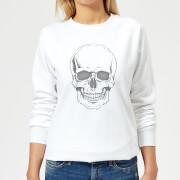 Skull Womens Sweatshirt - White - L - White