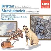 Image of Britten/Shostakovich - Sinfonia Da Requiem/Symphony No. 10 (Rattle)