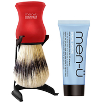 men-ü Barbiere Shaving Brush and Stand - Red