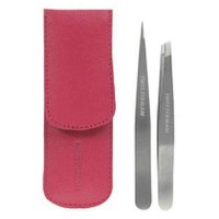 Tweezerman Petite Tweeze Set In Leather Case - Pink