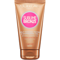 L'Oreal Paris Sublime Bronze Gel Autobronzant Teinté Scintillant - Clair (150ml)