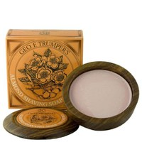 Geo. F. Trumper Almond Oil Hard Shaving Soap Wooden Bowl 80g