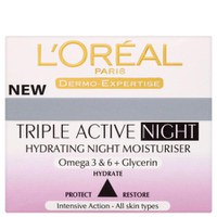 L'Oreal Paris Dermo Expertise Triple Active Hydrating Night Moisturiser (50 ml)