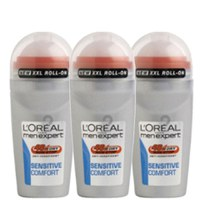 L'Oreal Paris Men Expert Sensitive Comfort Deodorant Roll-On (50 ml) Trio