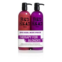 Duo de productos cabello rubio TIGI Bed Head Dumb Blonde