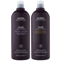 Aveda Invati Shampoo and Conditioner (2 x 1000 ml bundt)