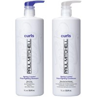 Paul Mitchell Spring Loaded Frizz-Fighting Litre Duo (Shampoo and Conditioner)