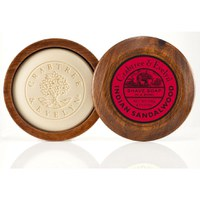 Crabtree & Evelyn Indian Sandalwood Shave Soap en cuenco de madera (100 g)