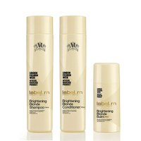 label.m Brightening Blonde Shampoo 300ml, Conditioner 300ml and Balm 100ml Bundle (Worth £42.85)