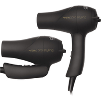 Diva Professional Styling Travel Dryer - gummerad svart