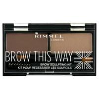 Rimmel BrowThis Way 眉妆套件 - 中等褐色