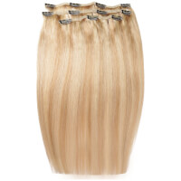 Beauty Works Deluxe Clip-In Hair -Extensions 18 Zoll - Kalifornien Blonde 613/16