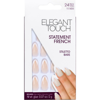 Elegant Touch Statement French Nails - Stiletto Bare