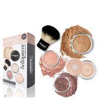 Bellapierre Cosmetics Glowing Complexion Essentials-Kit - Dark