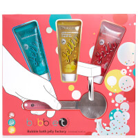 Bubble T Bath & Body - Wobble & Scrub Shower Jelly Set with Shower Puff