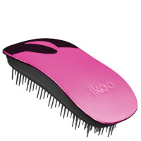 ikoo Home Detangling Hair Brush - Black/Cherry Metallic