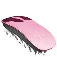 ikoo Home Detangling Hair Brush - Black/Rose Metallic