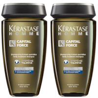 Kérastase Homme Captial Force Anti-Dandruff Shampoo (250ml) Duo
