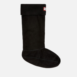 Hunter Unisex Fleece Gummistiefel Socken - Schwarz