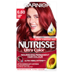 Garnier Nutrisse Permanent Hair Dye - 6.60 Ultra Fiery Red