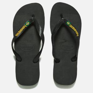 Havaianas Brasil Logo Flip Flops - Black