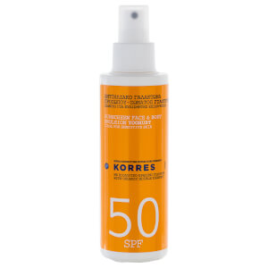KORRES Natural Yoghurt Face and Body Sunscreen SPF50 150ml