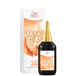 Wella Professionals Color Fresh Semi-Permanent Colour - 5/07 Natural Light Brown 75ml