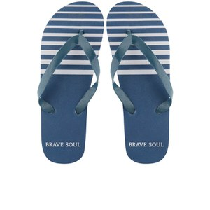 Bravesoul Herren Coast Flip Flops - Royalblau