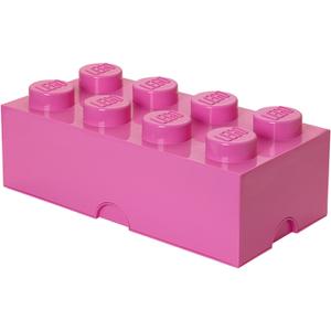 Ladrillo de almacenamiento LEGO (8 espigas) - Rosa