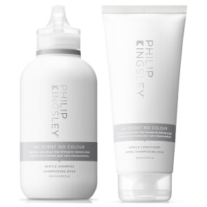 Philip Kingsley No Scent No Colour - duo di shampoo e balsamo per cuoio capelluto sensibile
